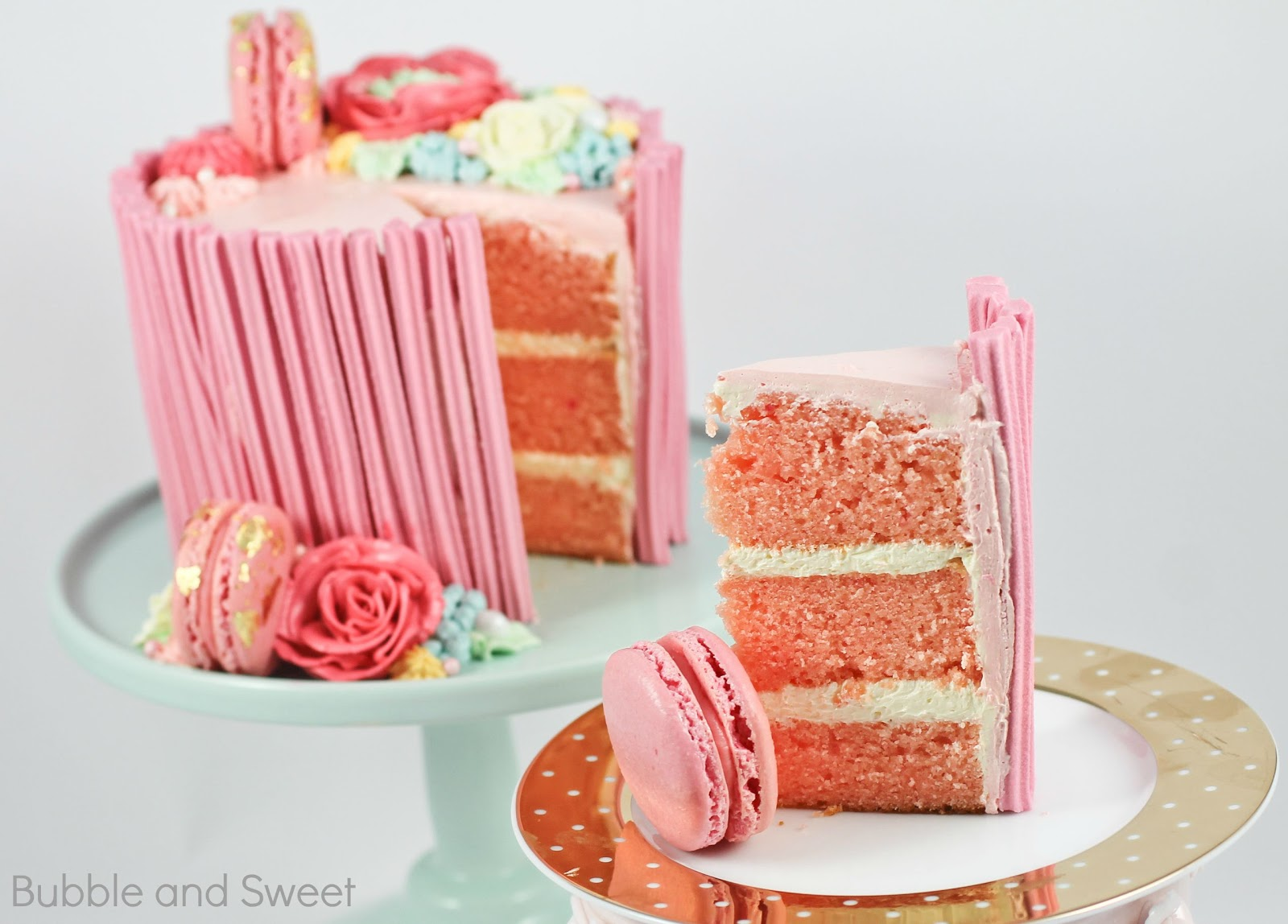 Bubble And Sweet Sweet Strawberry Layer Cake