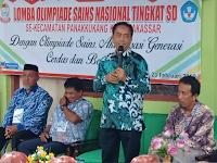 Kadisdik Makassar Dr Abdul Rahman Bando M.p., M.Si, buka OSN se Kecamatan Panakkukang