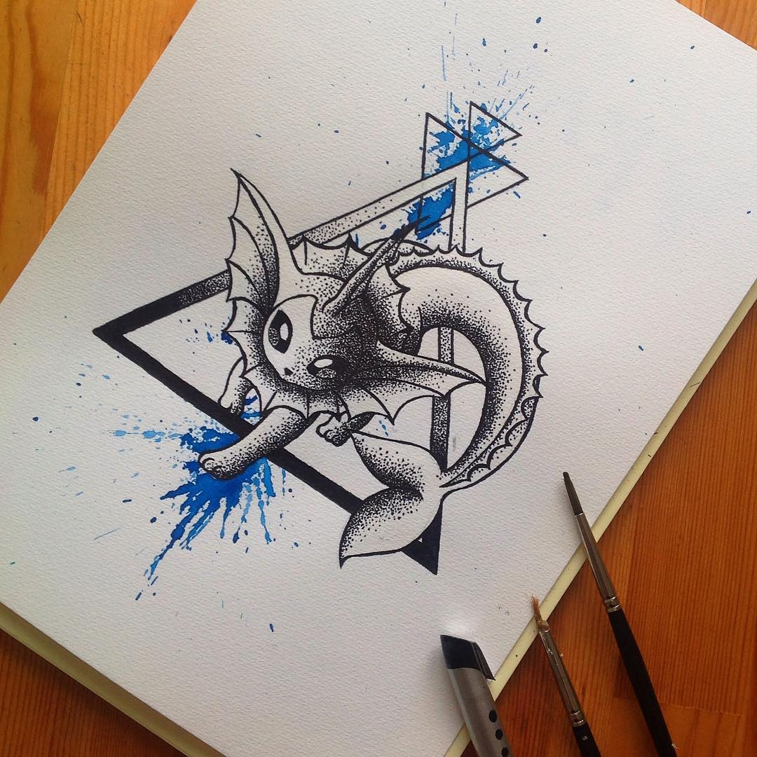 27-Vaporeon-Pokemon-Lisa-Marie-Melin-LittleGeekyFanArt-Fan-Art-Comic-Manga-and-Video-Game-Paintings-www-designstack-co