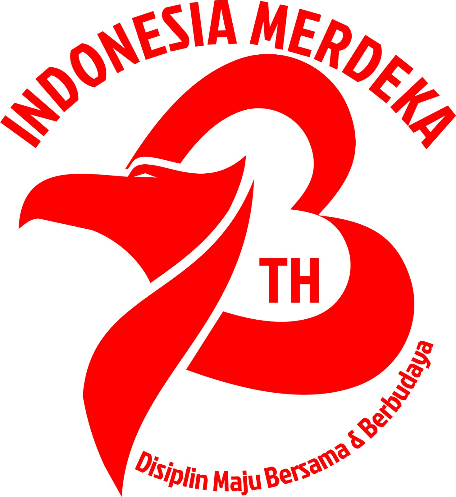 Logo 73 tahun Indonesia Merdeka ORCHIDSIGN