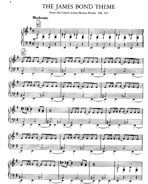 James Bond Partitura