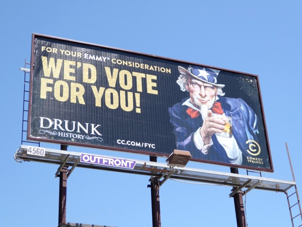 Drink History season 4 Emmy FYC billboard