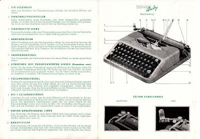 maschinengeschrieben gebrauchsanweisung f r die kleinschreibmaschine hermes baby. Black Bedroom Furniture Sets. Home Design Ideas