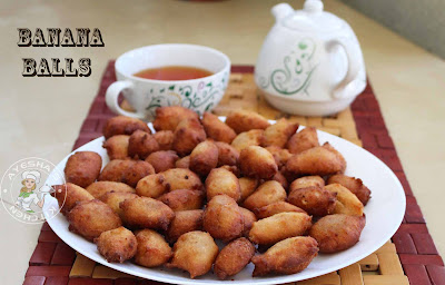 banana balls ripe banana reicpes pazham porichath banana fry banana fritters sweet treat ayeshas kitchen snacks recipes easy simple with bread banana