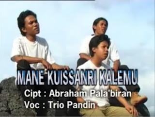 Lirik Lagu Toraja Mane Kuissanri Kalemu (Trio Pandin)