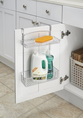 mDesign Over Cabinet Kitchen Storage Organizer