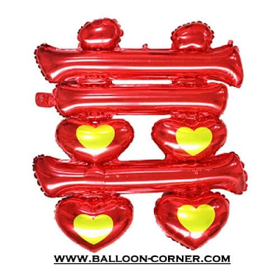 Balon Foil Double Happiness / Foil Shuangxi