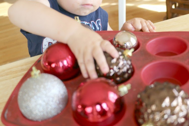 fine motor skills using ornaments