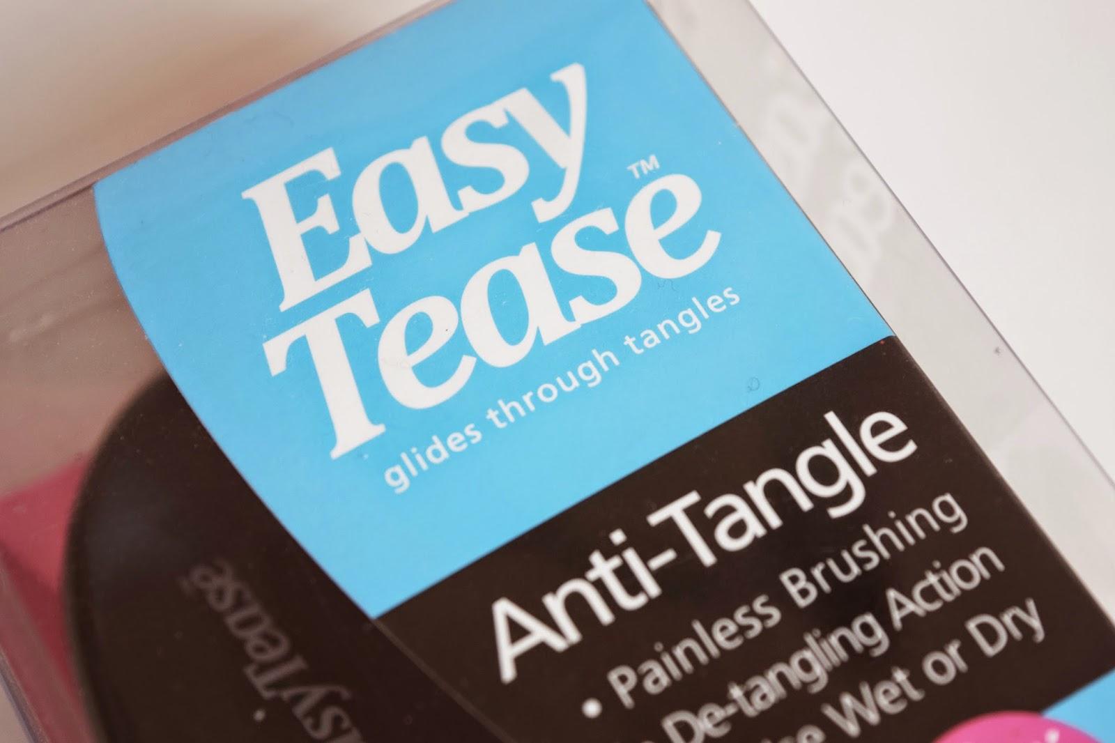 The East tease brush inside ints plastic box