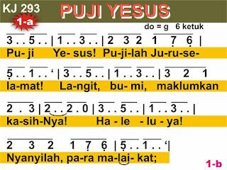 Lirik dan Not Kidung Jemaat 293 Puji Yesus