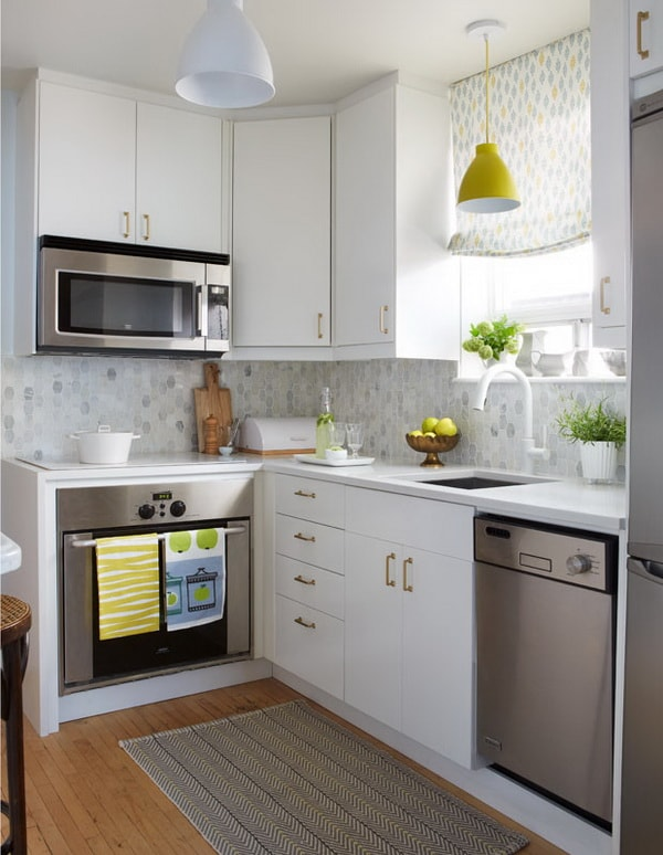 Modern Small Kitchens Design Layouts - Simple and Elegant 9