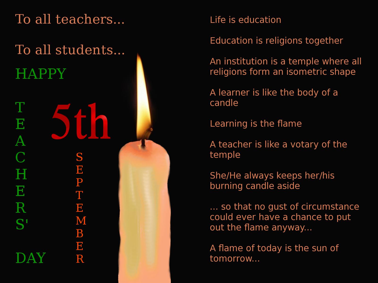 The Diary Of A Dead Moth 5th September Teachers Day