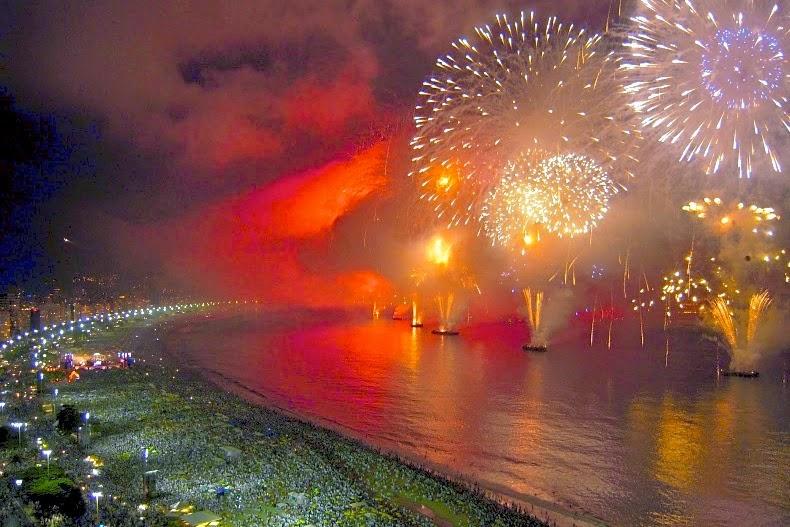 New Year Eve 2016 Rio de Janeiro Fireworks