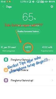 Tips suhu smartphone agar tetap normal