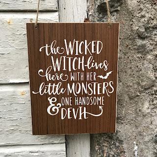 Silhouette Wood Paper - välkomst-skylt, Halloween