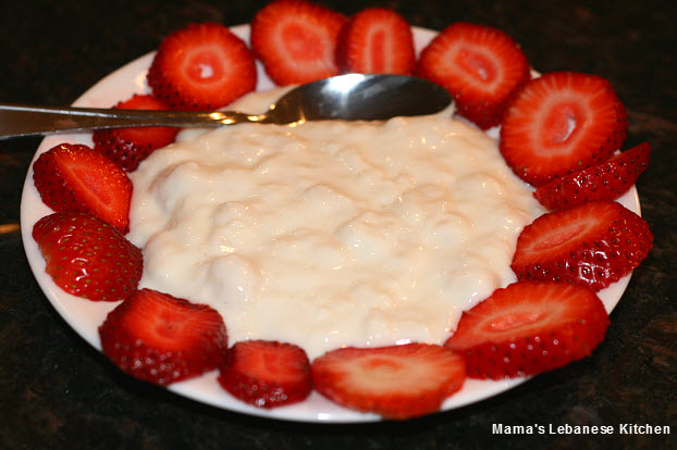 Ashta Served With Strawberries