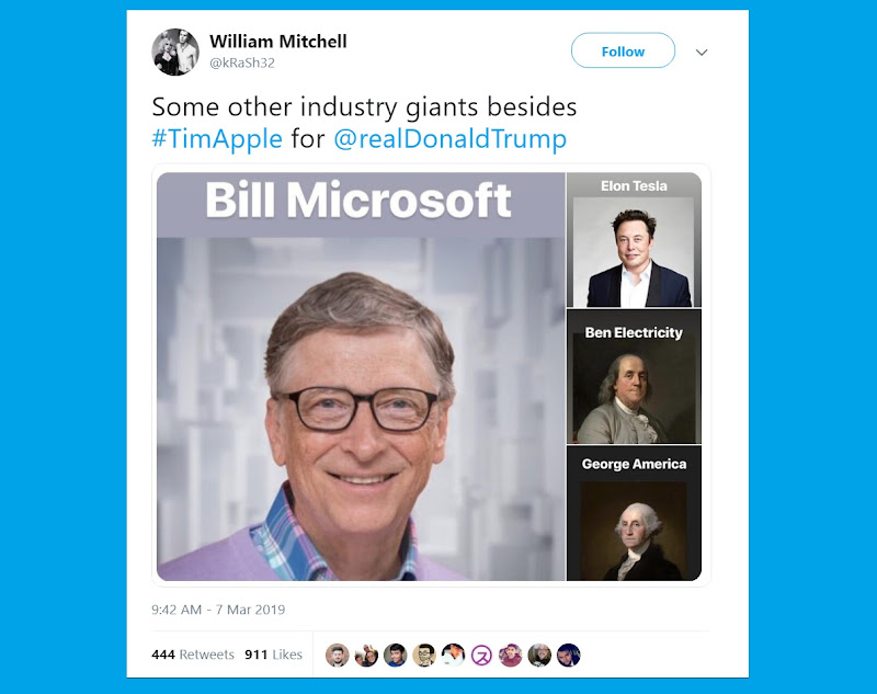 Tim Cook changes Twitter name to Tim Apple after Trump flub