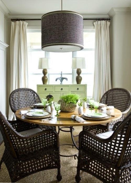Diseños de comedores estilo vintage   colores en casa