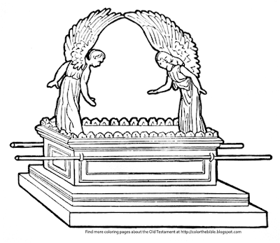 Color the bible for Ark of the covenant coloring page
