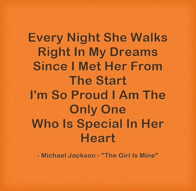 Michael Jackson song quote 1