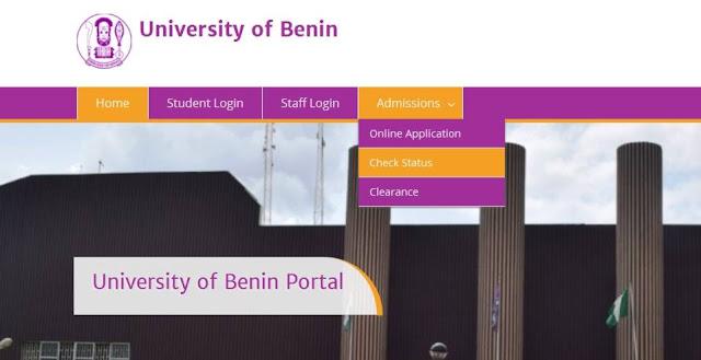 Uniben Part-time and Postgraduate Admssion Status checking