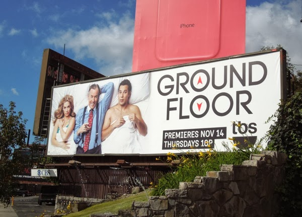 Ground Floor series premiere TBS billboard