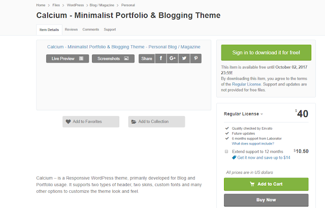 Calcium Minimalist Portfolio & Blogging Theme