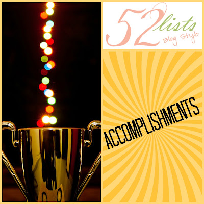 52 Lists #50 - Accomplishments on Homeschool Coffee Break @ kympossibleblog.blogspot.com