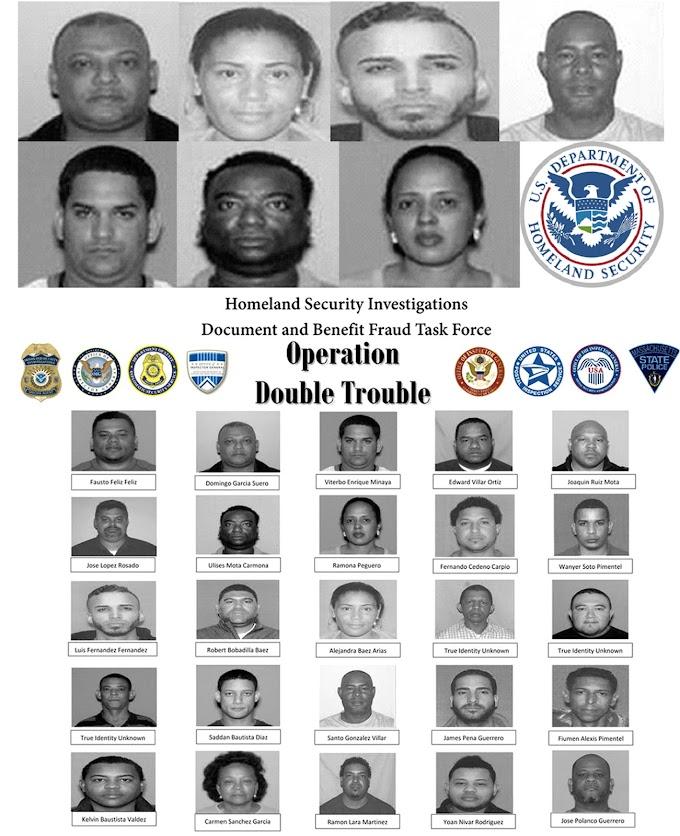 Siete dominicanos acusados en Boston de liderar banda de fraude a servicios sociales y falsificación de documentos