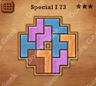 Cheats, Solutions, Walkthrough for Wood Block Puzzle Special I Level 73