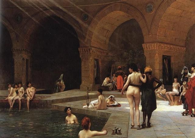Harem baths - Jean-Léon Gérôme 1885