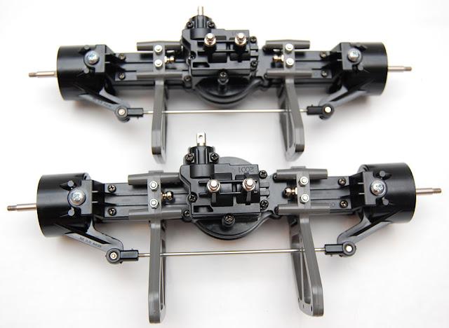 Tamiya TXT-1 front and rear axles