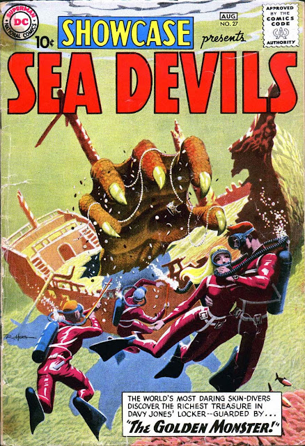 Showcase v1 #27, 1960 dc silver age comic book cover - 1st Sea Devils
