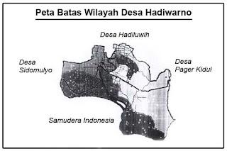 Peta Denah Batas Wilayah Desa Hadiwarno Ngadirojo Pacitan