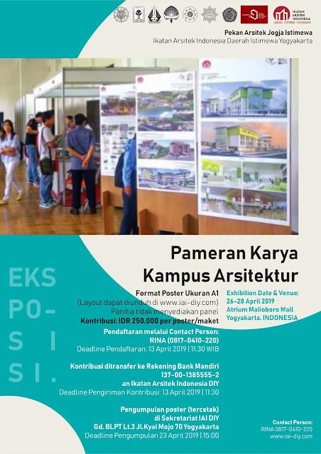 PAMERAN KARYA KAMPUS ARSITEK DIY 2019