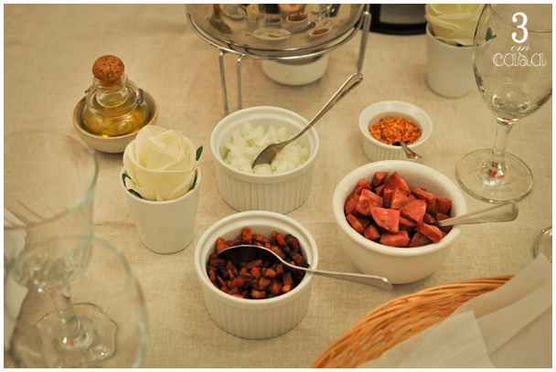 mesa para caldinhos