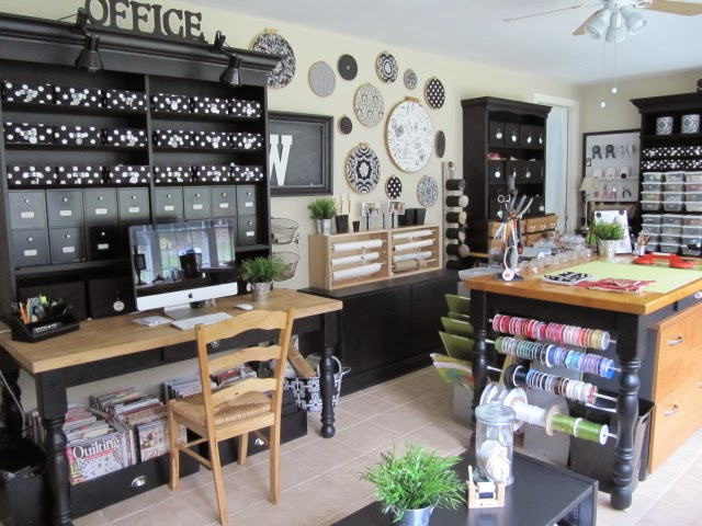 Craft Room Desk: Sew Many Ways...: Sewing And Craft Room Ideas And Updates