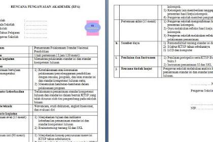 Contoh Rencana Kegiatan Pengawasan Akademik