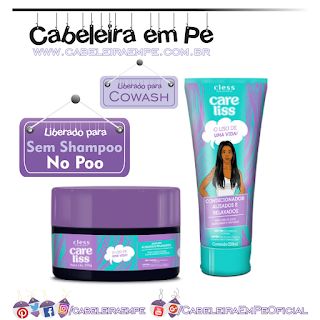 Máscara e Condicionador Alisados e Relaxados - Care Liss (liberados para No Poo e Cowash)
