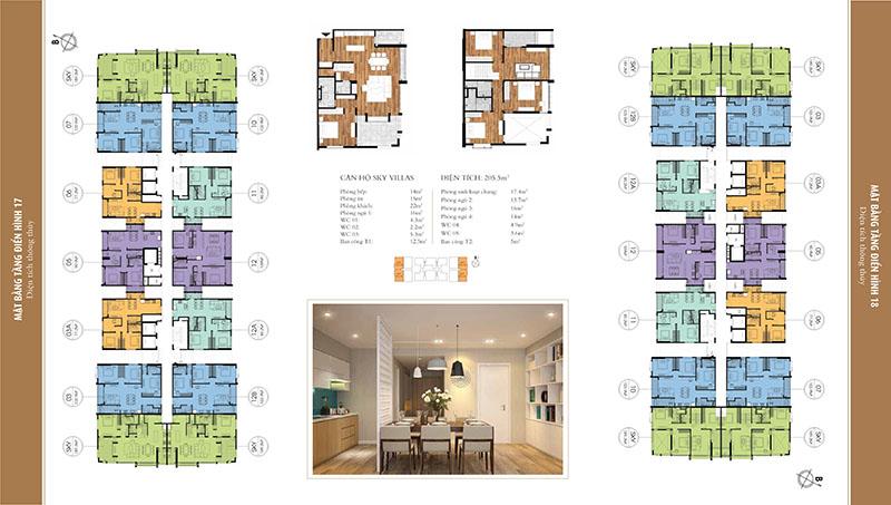 Mặt bằng điển hình tầng 4-16 chung cư One18