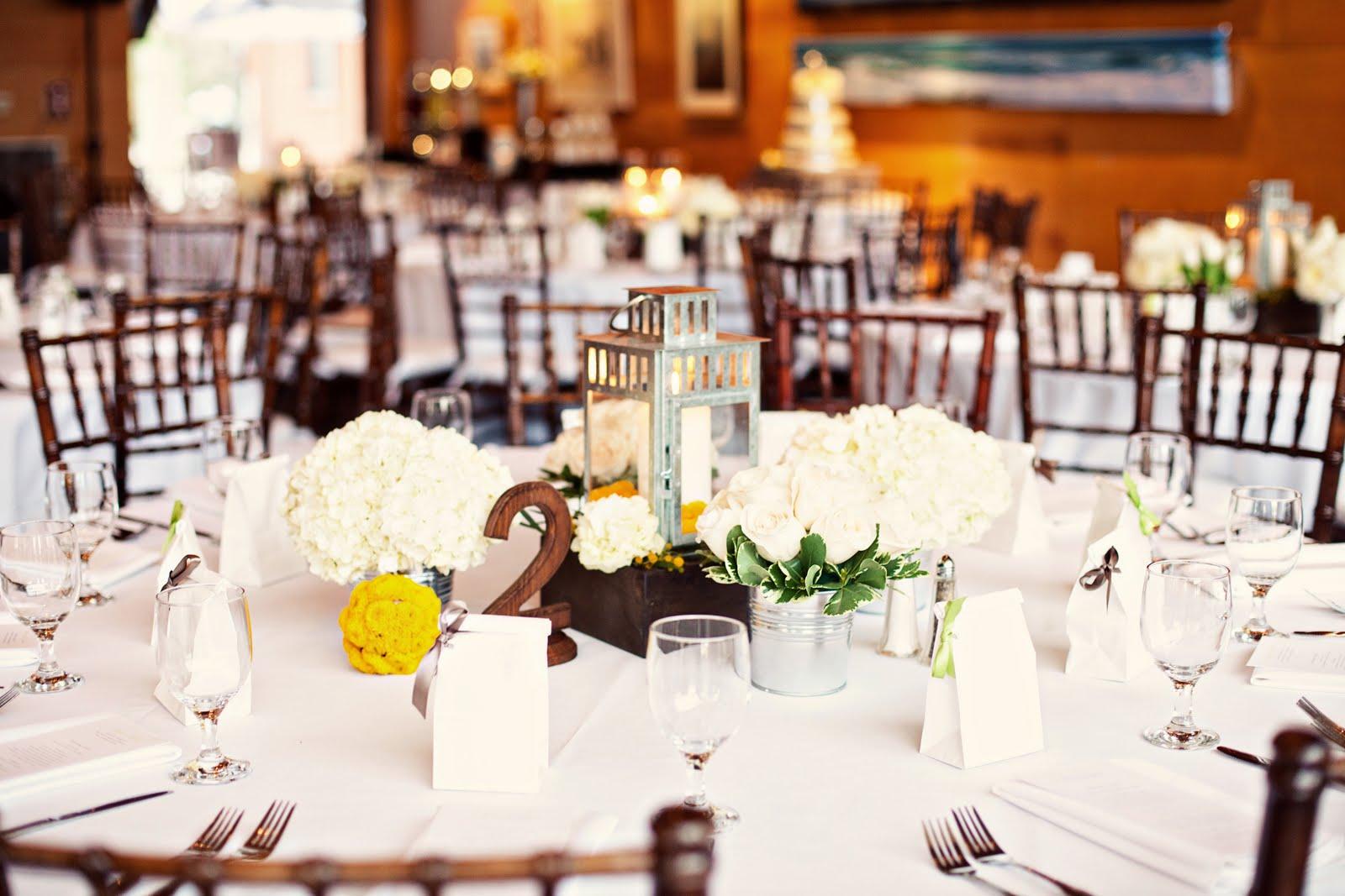 yellow and pewter modern beach wedding lanterns for weddings Ocean Institute Dana Point Wedding
