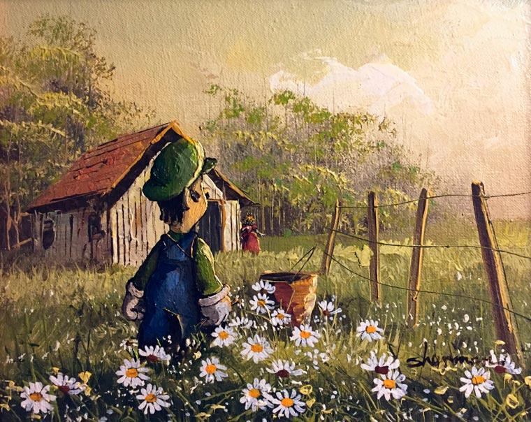 Artista Dave Pollot se diverte misturando pinturas antigas com a Cultura Pop 0caf54537453a
