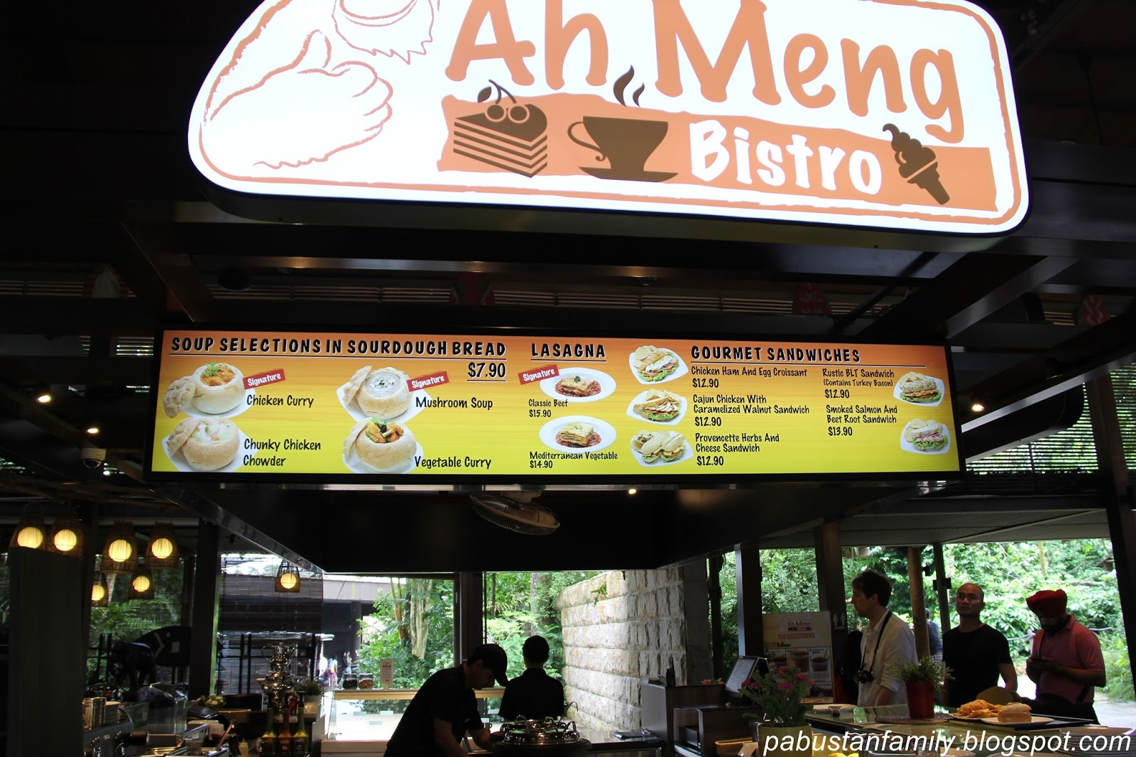 Ah Meng Restaurant Singapore Zoo Menu