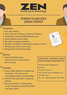 Karir Lowongan Kerja ZEN Family Spa Terupdate 2019