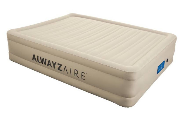 Fortech Queen Airbed With Built-in Alwayzaire Pump