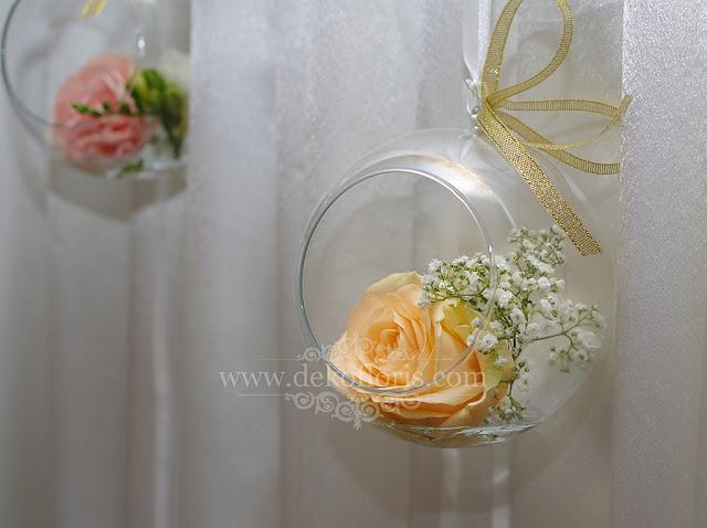szklane bańki dekoracja wesela Zajazd pod Borem Pokój