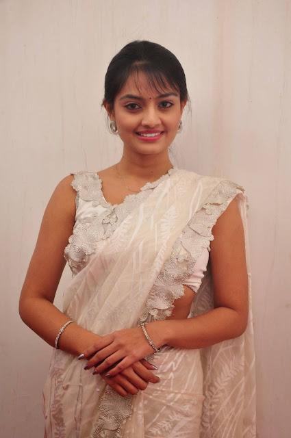 South Actress Nikitha Narayan Hot Hip Navel Show Photos In White Saree