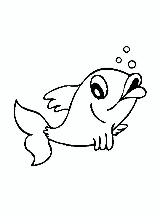 Tranh tô màu con cá 00