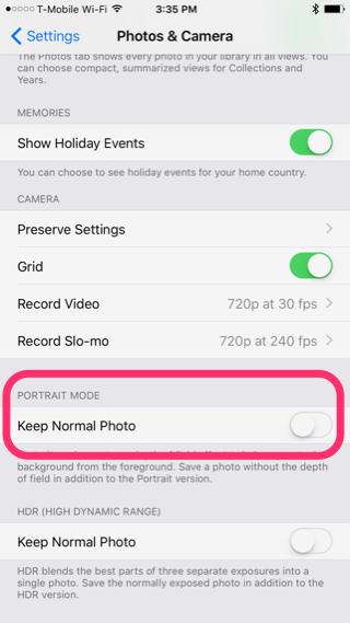 İPhone 7 Plus Portre Modu Çoğaltmalarini Kapatmak
