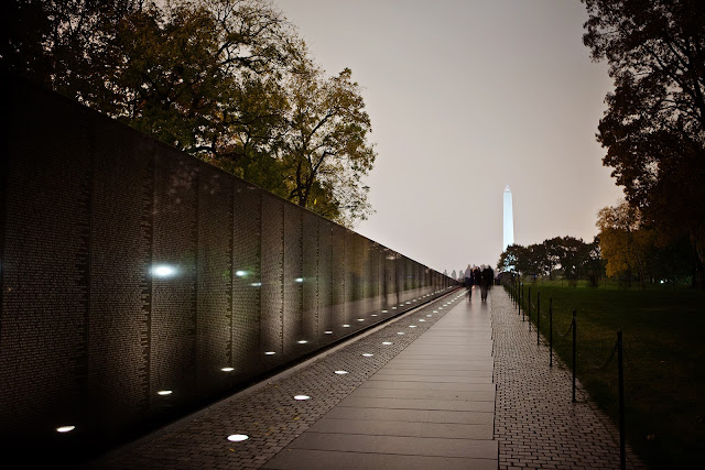 Twilight at the Vietnam Veterans Memorial in Washington, D.C. (2012)